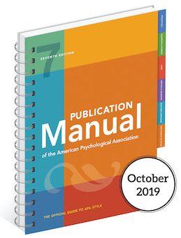 APA Manual 7th edition cover