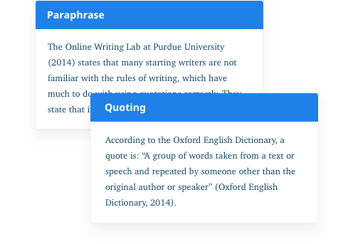 Solve your plagiarism by paraphrase or quoting