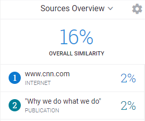 Turnitin Similarity Report