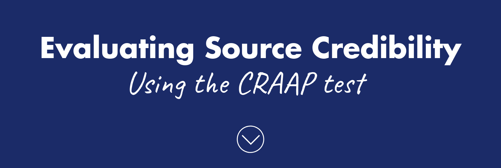 Evaluating source credibility using craap test