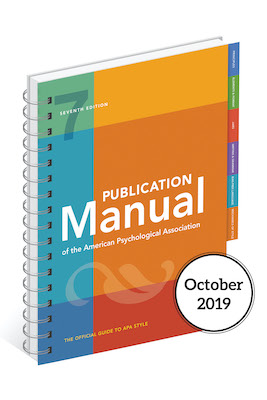 APA Manual 7th edition cover